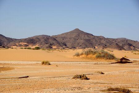 wadi: Wadi in Libyan desert