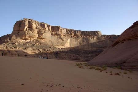 libysch: Biwak in libyschen W�ste Lizenzfreie Bilder