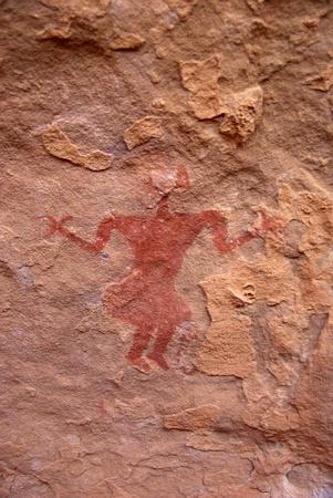 rock painting: Rock painting, Libya Stock Photo