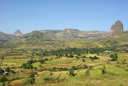 Landscape in Ethiopia Stock Photo