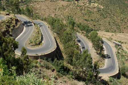Road in Ethiopia Stock Photo