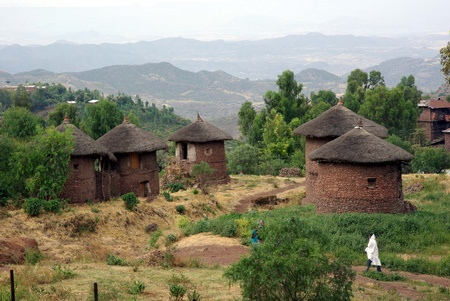 Village in Ethiopia Stock Photo - 13224319