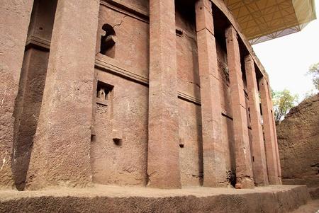 rupestrian: Church in Lalibela, Ethiopia Stock Photo