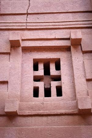rupestrian: Window in Lalibela, Ethiopia