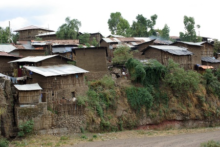 Village of Lalibela, Ethiopia Stock Photo