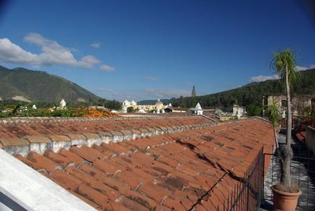 antigua: Roofs in Antigua, Guatemala