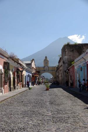 antigua: Street in Antigua Stock Photo