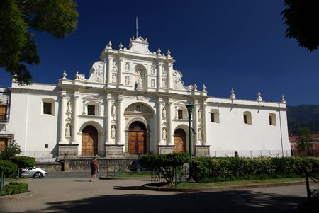 antigua: Cathedral in Antigua, Guatemala Stock Photo