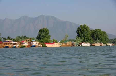kashmir: Houseboats in Srinagar in Kashmir, India