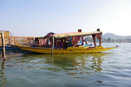 kashmir: Shikara in Srinagar in Kashmir, India