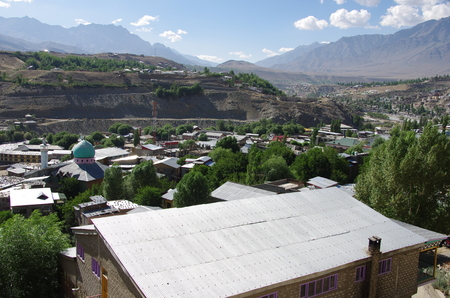 City of Kargil in Ladakh, India Stock Photo