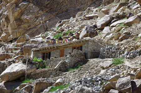 Traditional house in Ladakh, India
