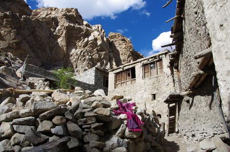 Traditional village in Ladakh, India Stock Photo