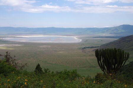 The Ngorongoro crater in Tanzania