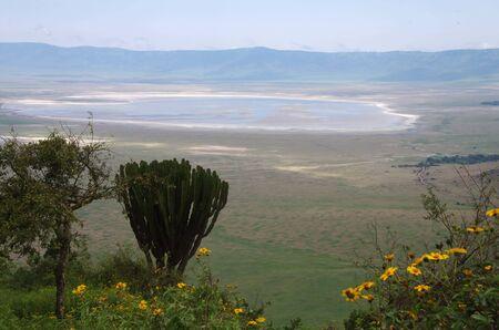 View of the Ngorongoro crater in Tanzania