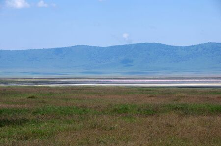 Landscape in the Ngorongoro crater in Tanzania