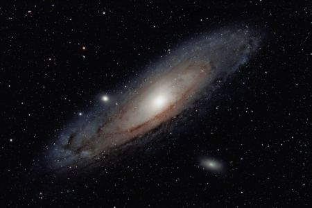 andromeda: Andromeda galaxy Stock Photo