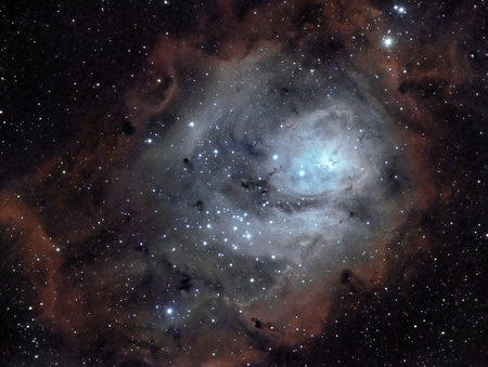 telescopes: Lagoon nebula Stock Photo