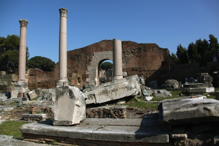 Ruins in the ancient Forum in Rome Stock Photo - 13637044