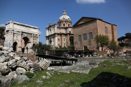 Part of the ancient Forum in Rome Stock Photo - 13637046