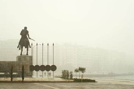 Statue of Great Alexander in Thessaloniki photo