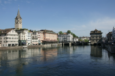 River Limmat in Zurich, Switzerland Stock Photo - 13692226