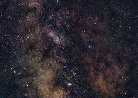 backround: Image of the Milky Way towards south