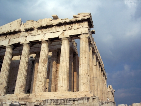 Parthenon, the famous ancient temple of Acropolis in Athens photo