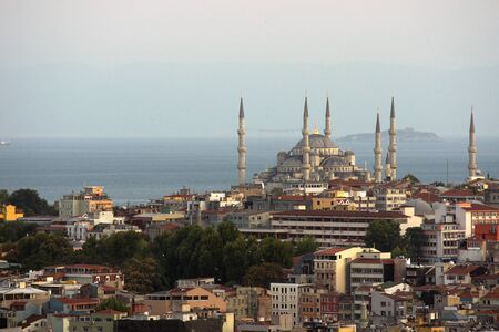 constantinople: Istanbul, view of the famous Blue Mosque