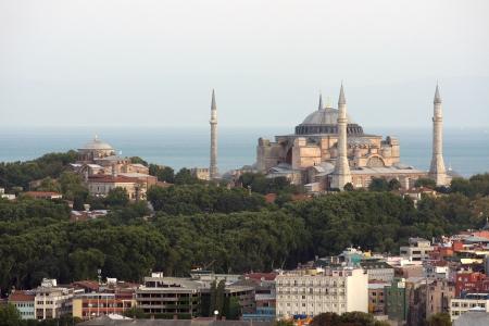 hagia: Istanbul, view of Hagia Sophia and Hagia Irene