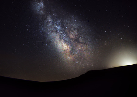 Milky Way over the Plateau of Muses Stock Photo