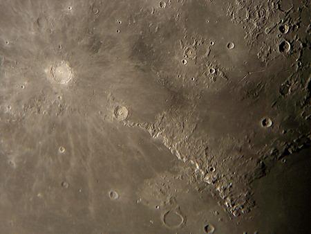 Lunar surface and craters Reklamní fotografie