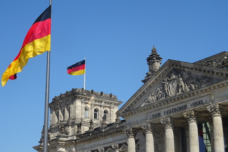 Reichstag, the famous parliament of Germany