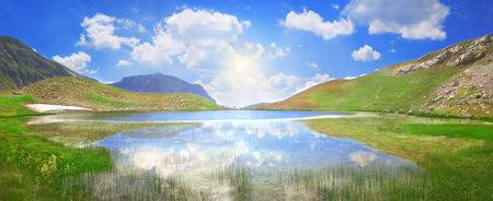 Dragon Lake at an altitude of 2000 meters in Pindus mountain range - Greece