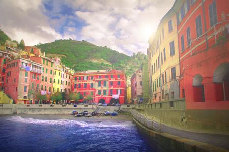The beautiful village of Vernazza in Cinque Terre, Liguria - Italy