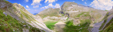 A breathtaking panoramic view of a plateau at the Pindus mountain range - Greece