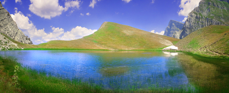 The famous Dragon Lake at an altitude of 2000 meters in Pindus mountain range - Greece