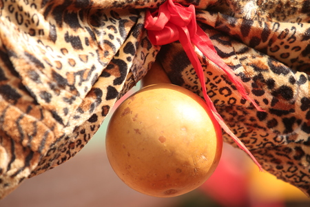 calabash decoration at an african traditional marriage rite.