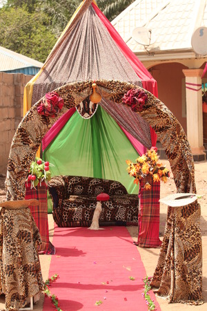 The traditional seats reserved for the bride and groom after the have received the blessings of the families to live as husband and wife.