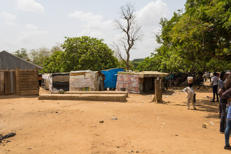 makeshift homes for internally displaced persons in Abuja, Nigeria