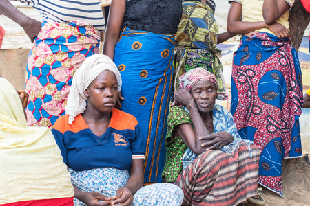 Women living in the wooden makeshift place of Internally Displaced Persons in Abuja, the Federal Capital of Nigeria.