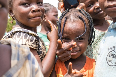Children living in the wooden makeshift place of Internally Displaced Persons in Abuja, the Federal Capital of Nigeria. 報道画像