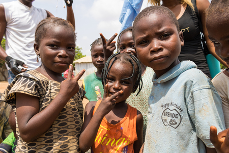 Children living in the wooden makeshift place of Internally Displaced Persons in Abuja, the Federal Capital of Nigeria. Editorial