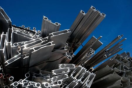 aluminum scrap for recycling in the industry photo