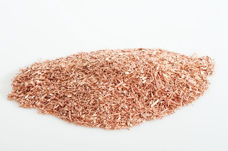 Cable scrap copper for recycling in the recycling loop photo