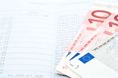 Close-up of savings in money and bank statement Stock Photo - 6952505