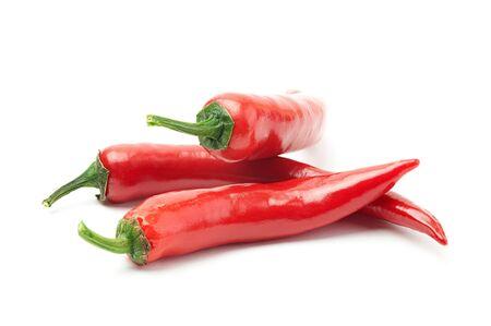 Nahaufnahme einer chili Peppers auf weißem Hintergrund