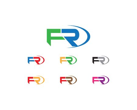 Letters F and R icon.