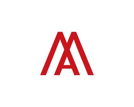 Letter M and A icon. Ilustração