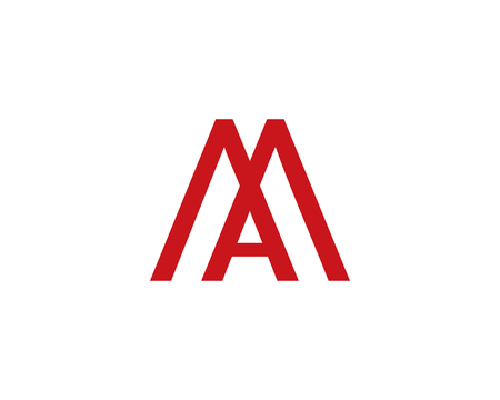 Letter M and A icon. Illustration